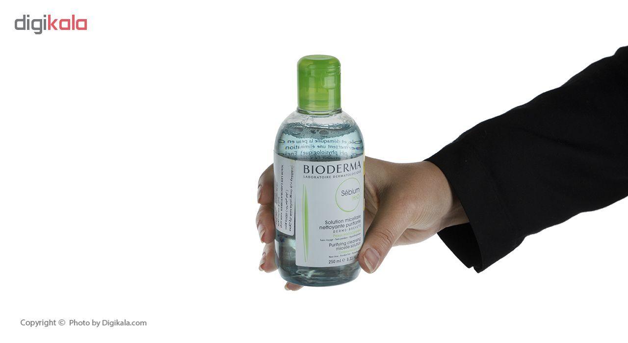 محلول پاک کننده آرایش بایودرما مدل Sebium H2O حجم 250 میلی لیتر main 1 4