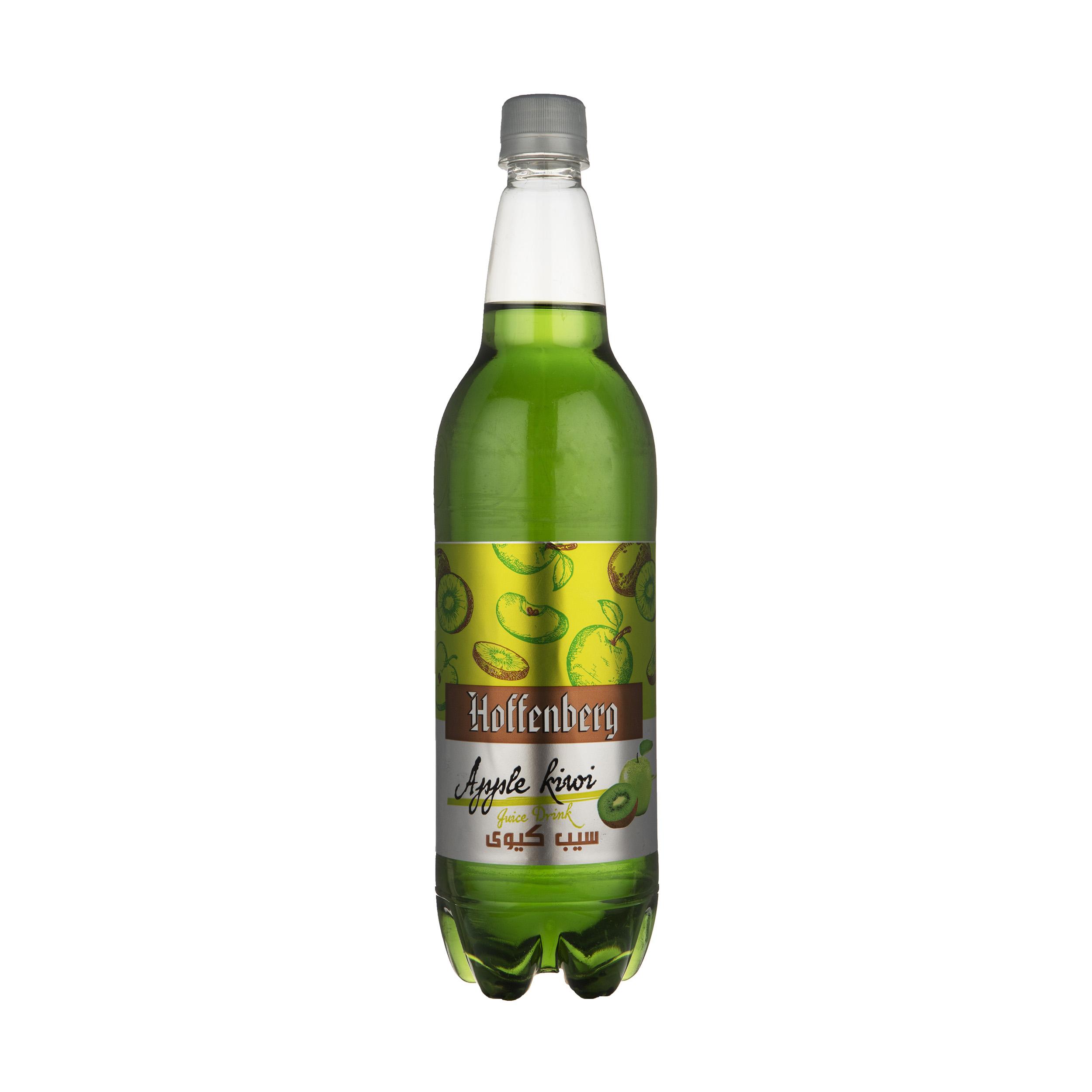نوشیدنی گاز دار سیب کیوی هوفنبرگ - 1 لیتر