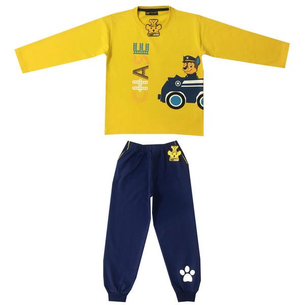 ست تی شرت و شلوار پسرانه خرس کوچولو طرح سگ نگهبان کد P101