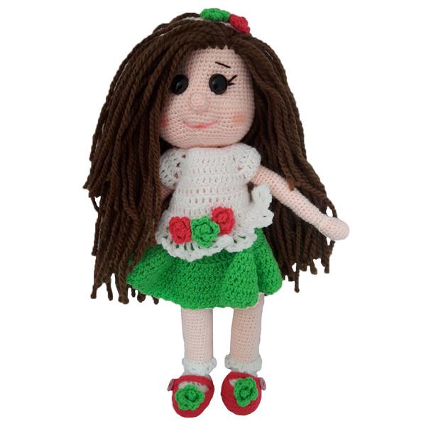 عروسک بافتنی طرح دختر موکمند مدل wq90