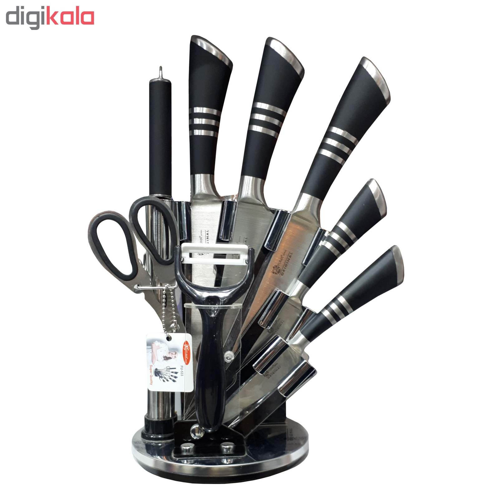 سرویس چاقو آشپزخانه 9 پارچه فوما مدل FU-533 main 1 2