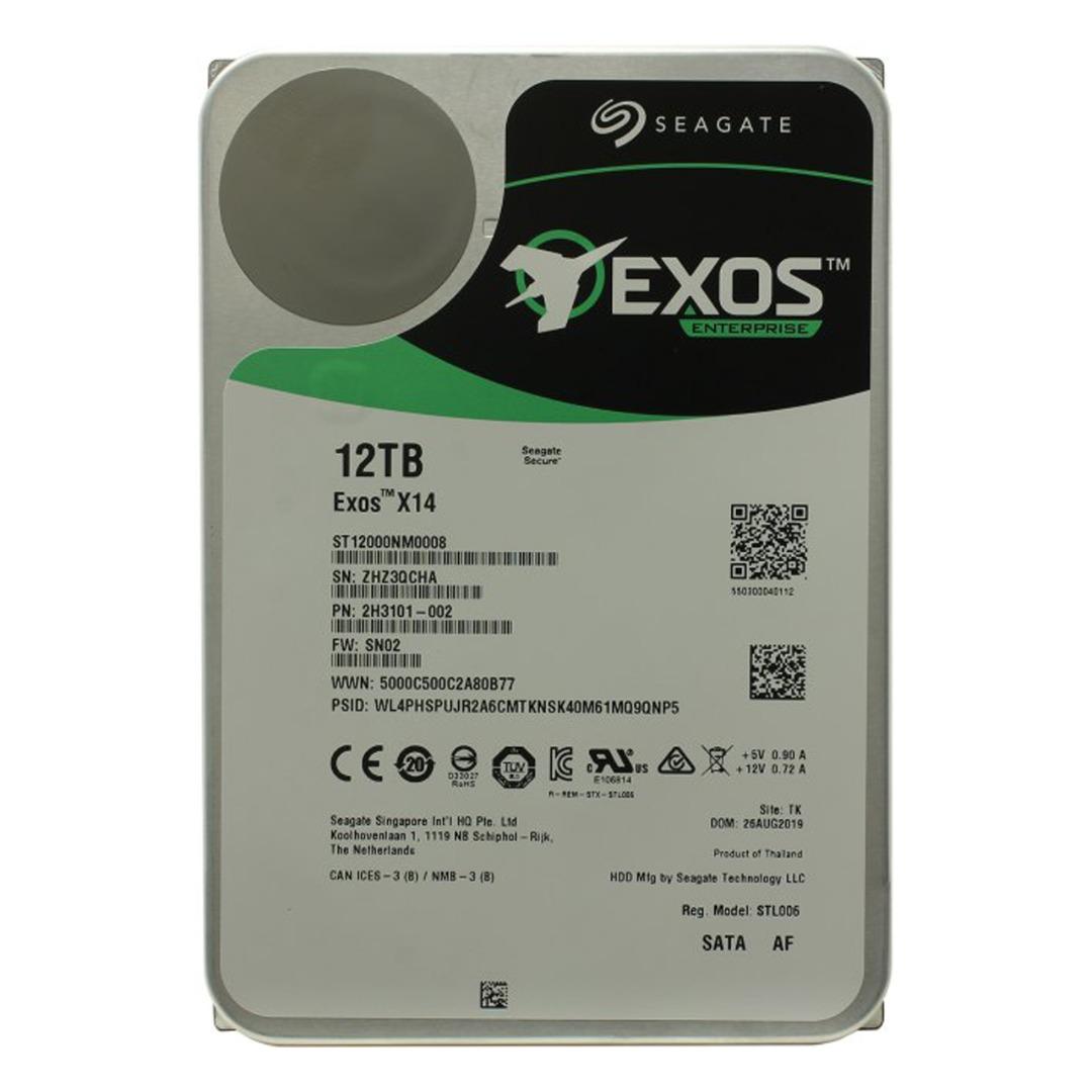 هارد دیسک اینترنال سیگیت مدل Exos ST12000NM0008 ظرفیت 12 ترابایت