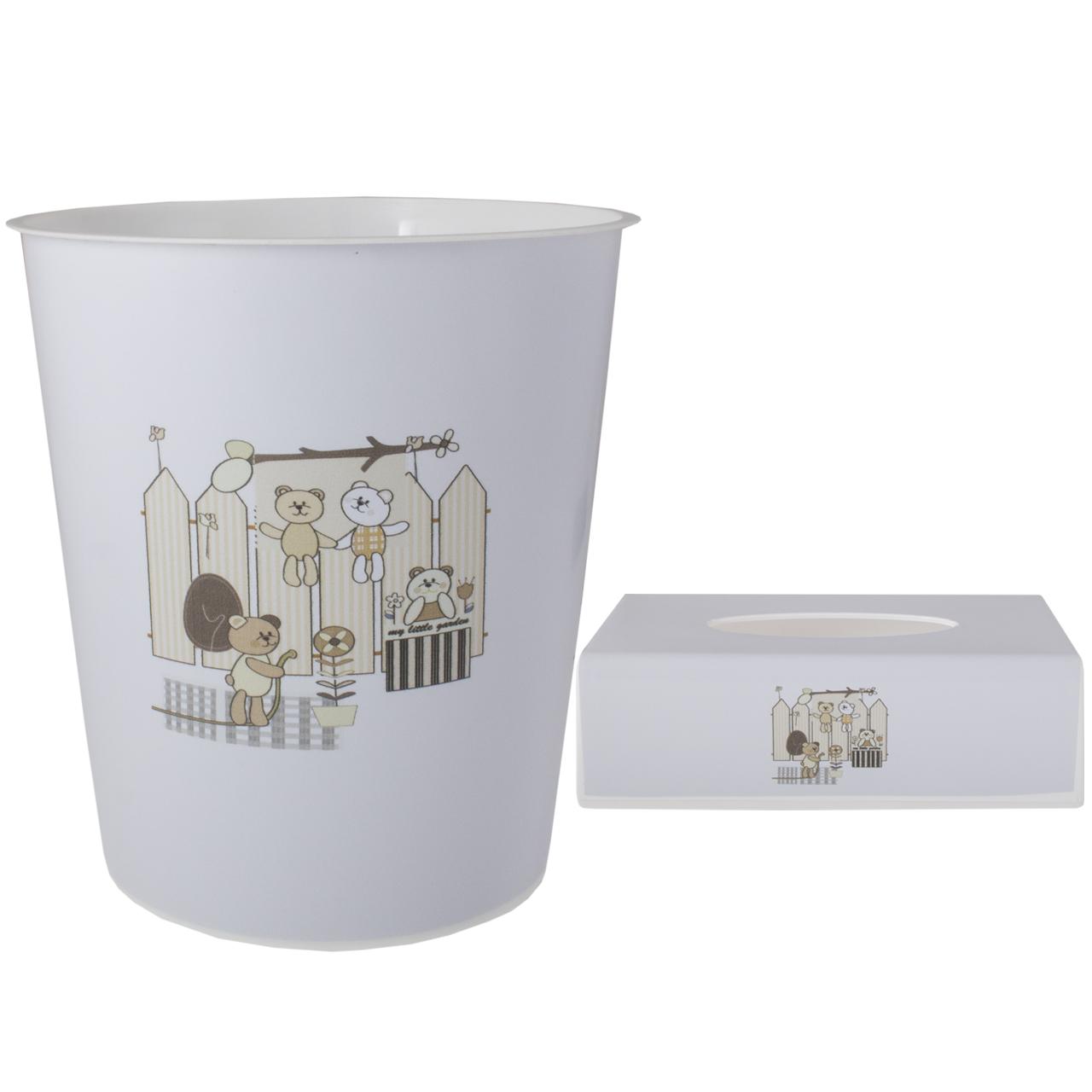 ست سطل و جادستمال اتاق کودک طرح خرس کد 1181