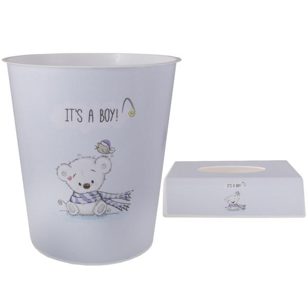 ست سطل و جادستمال اتاق کودک طرح خرس کد 4043