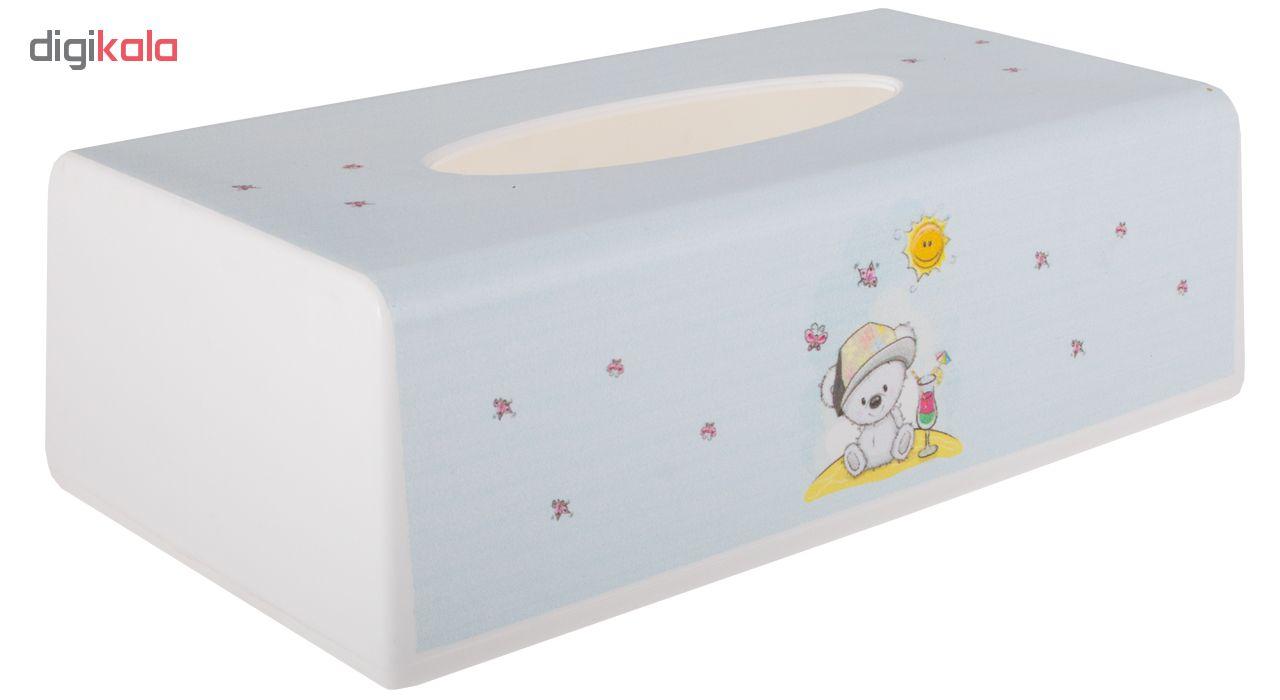 ست سطل و جادستمال اتاق کودک طرح خرس کد 4048