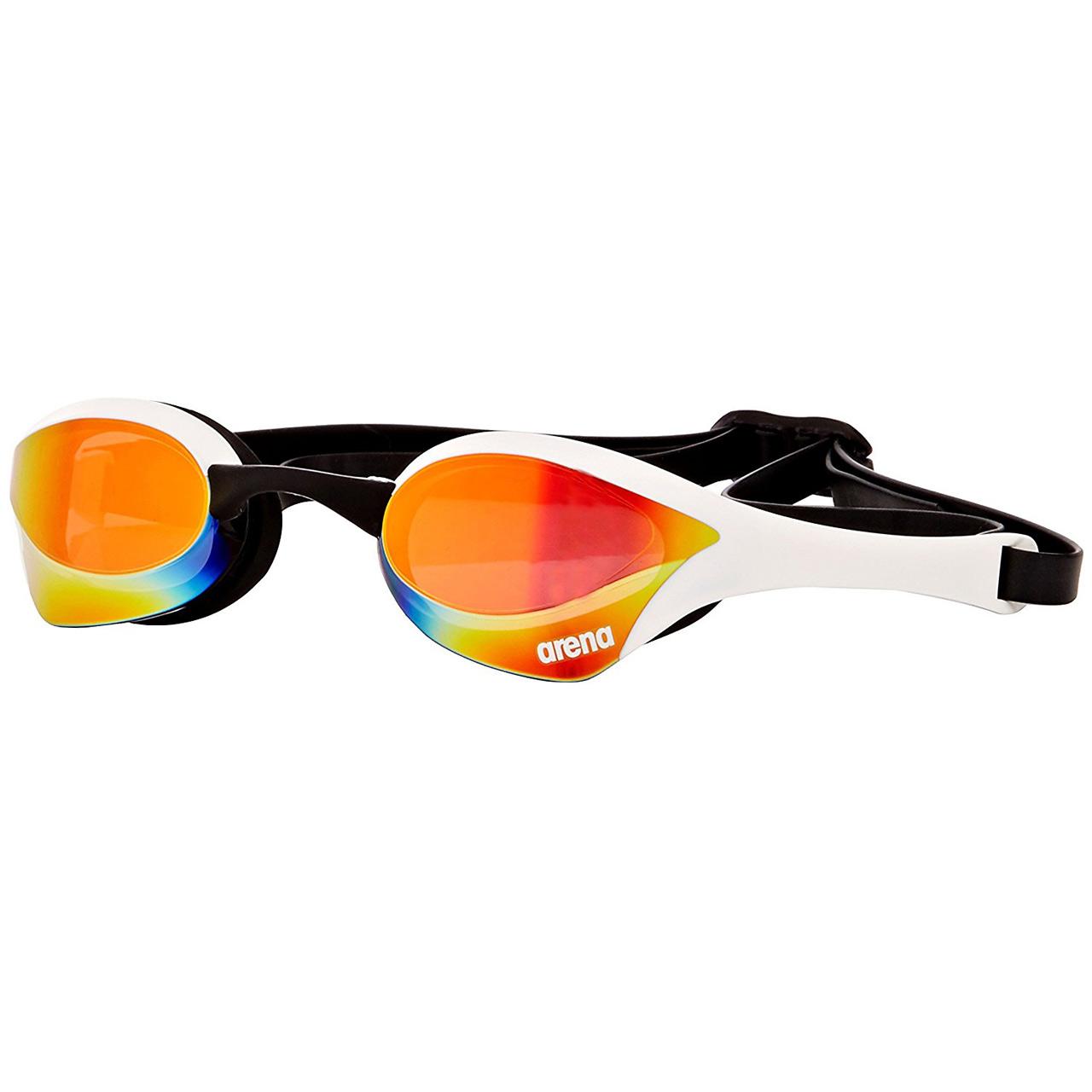 عینک شنا آرنا سری Racing مدل Cobra Ultra Mirror سفید سایز 4