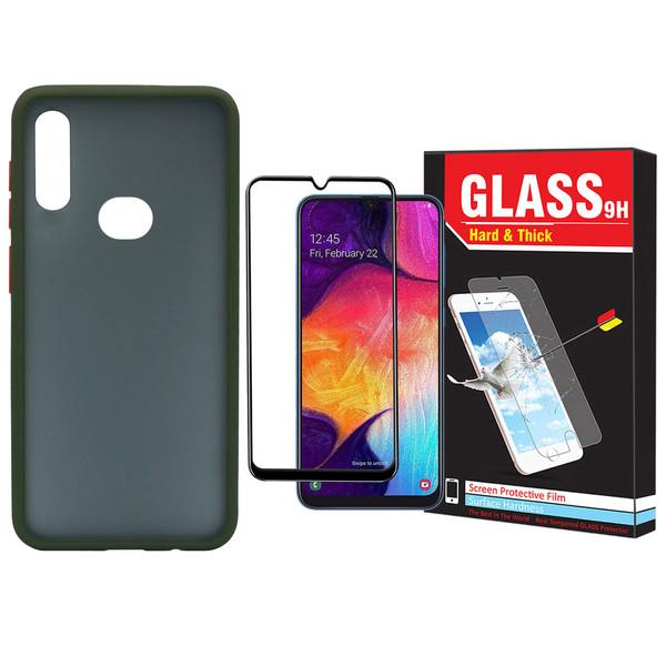 کاور مدل Sb-001 مناسب برای گوشی موبایل سامسونگ Galaxy A20s به همراه محافظ صفحه نمایش Hard and Thick