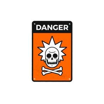 استیکر لپ تاپ طرح خطر ریک کد 75