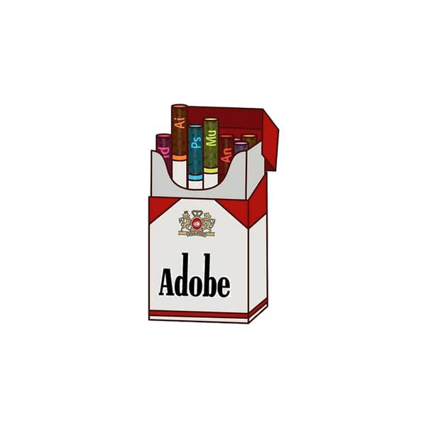 استیکر لپ تاپ لولو طرح برنامه های برنامه نویسی ADOBE کد 93