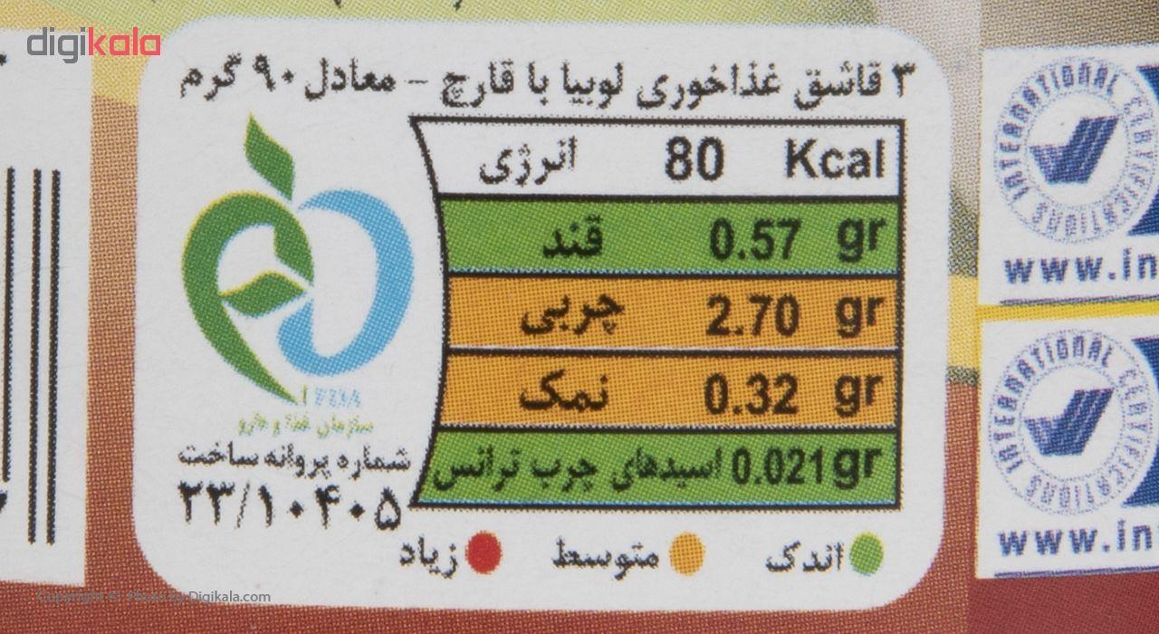 کنسرو خوراک لوبیا چیتی با قارچ مجید - 400 گرم main 1 5