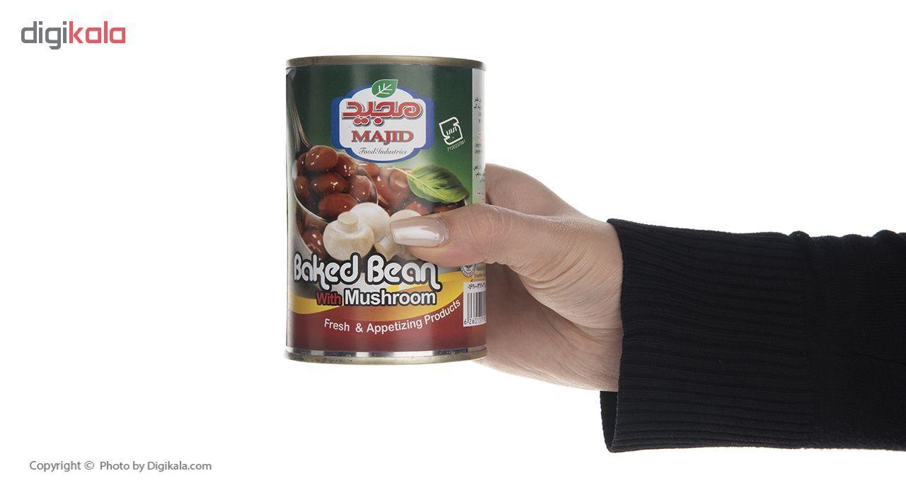 کنسرو خوراک لوبیا چیتی با قارچ مجید - 400 گرم main 1 6