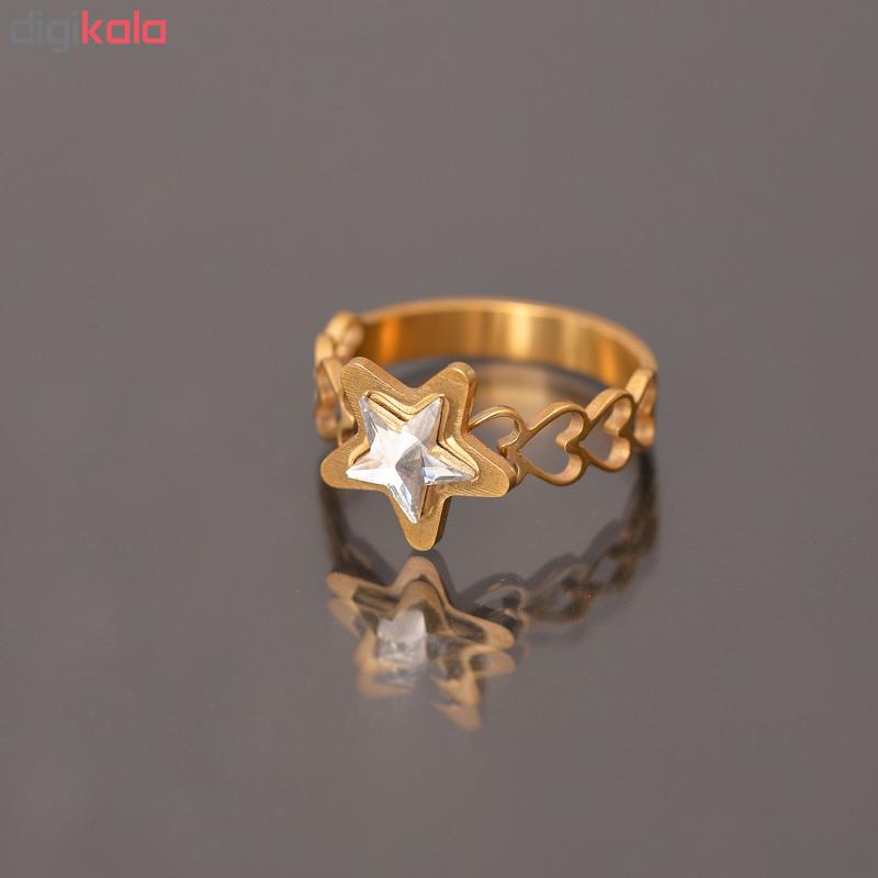 انگشتر زنانه طرح ستاره کد AN1298