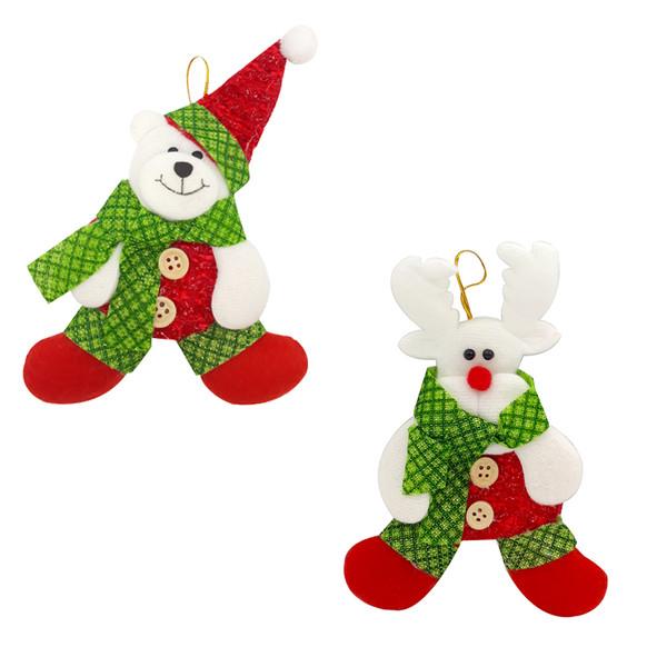 آویز تزئینی مدل کریسمس کد mk397 مجموعه 2 عددی