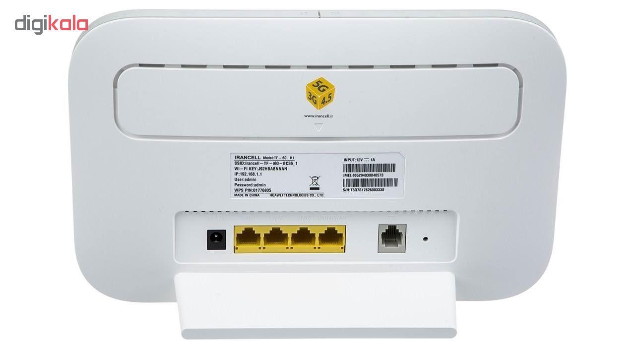 خرید                                     مودم 4G/TD-LTE ایرانسل مدل TF-i60 H1 به همراه 480 گیگابایت اینترنت یکساله
