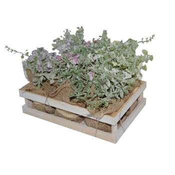 سبد گل به همراه گل مصنوعی مدل 36 مجموعه 6 عددی