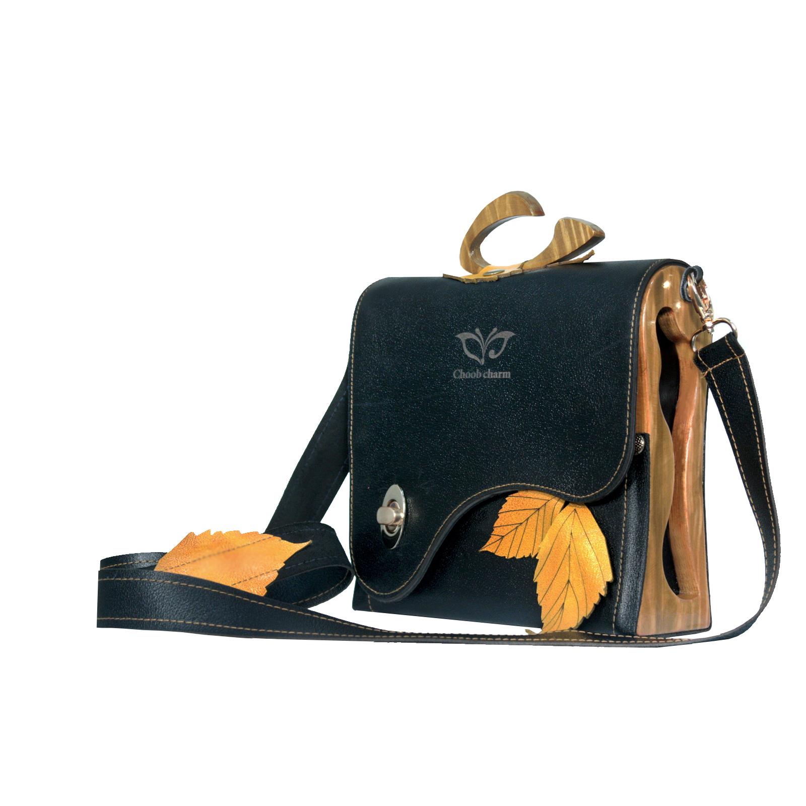 کیف دستی چرمی چوب چرم مدل AT-98