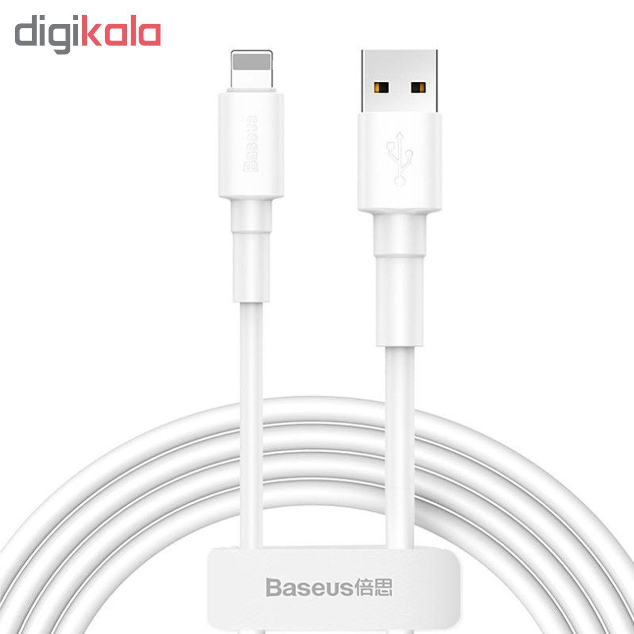 کابل تبدیل USB به لایتنینگ باسئوس مدل CALSW-02 طول 1 متر main 1 1