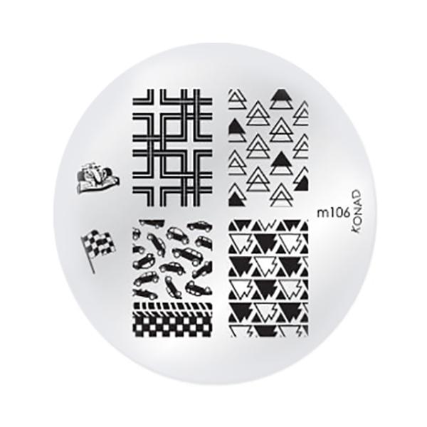 شابلون طراحی ناخن کناد کد m106