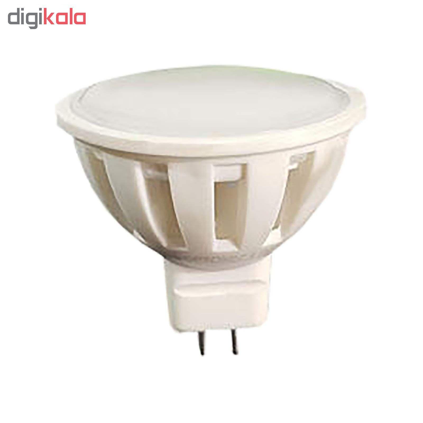 لامپ ال ای دی 5 وات مدل AB10 پایه GU5.3 بسته 10 عددی main 1 2