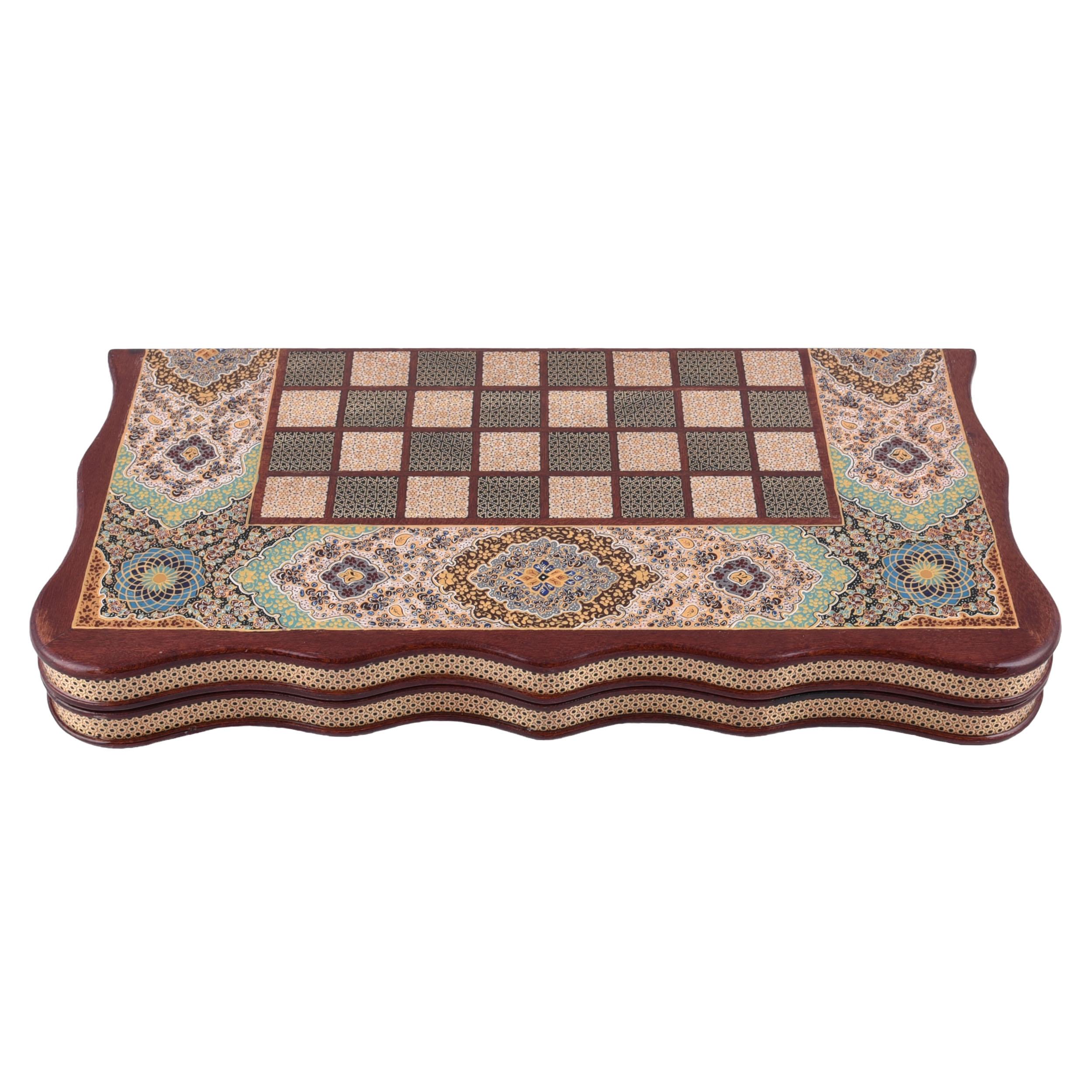 صفحه شطرنج خاتم کاری کروبی مدل K30 کد 50