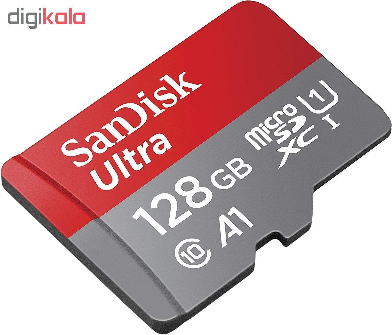 کارت حافظه microSDHC سن دیسک مدل A1 کلاس 10 استاندارد UHS-I سرعت 100MBps ظرفیت 128 گیگابایت