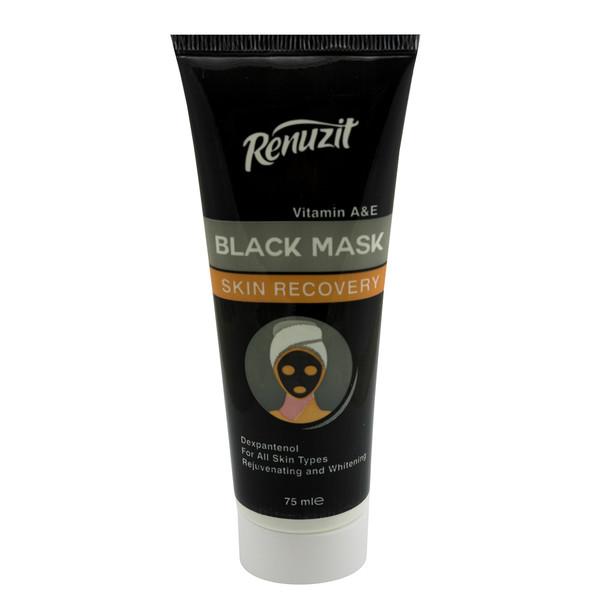 ماسک صورت رینو زیت مدل Black mask carbon active حجم 75 میلی لیتر