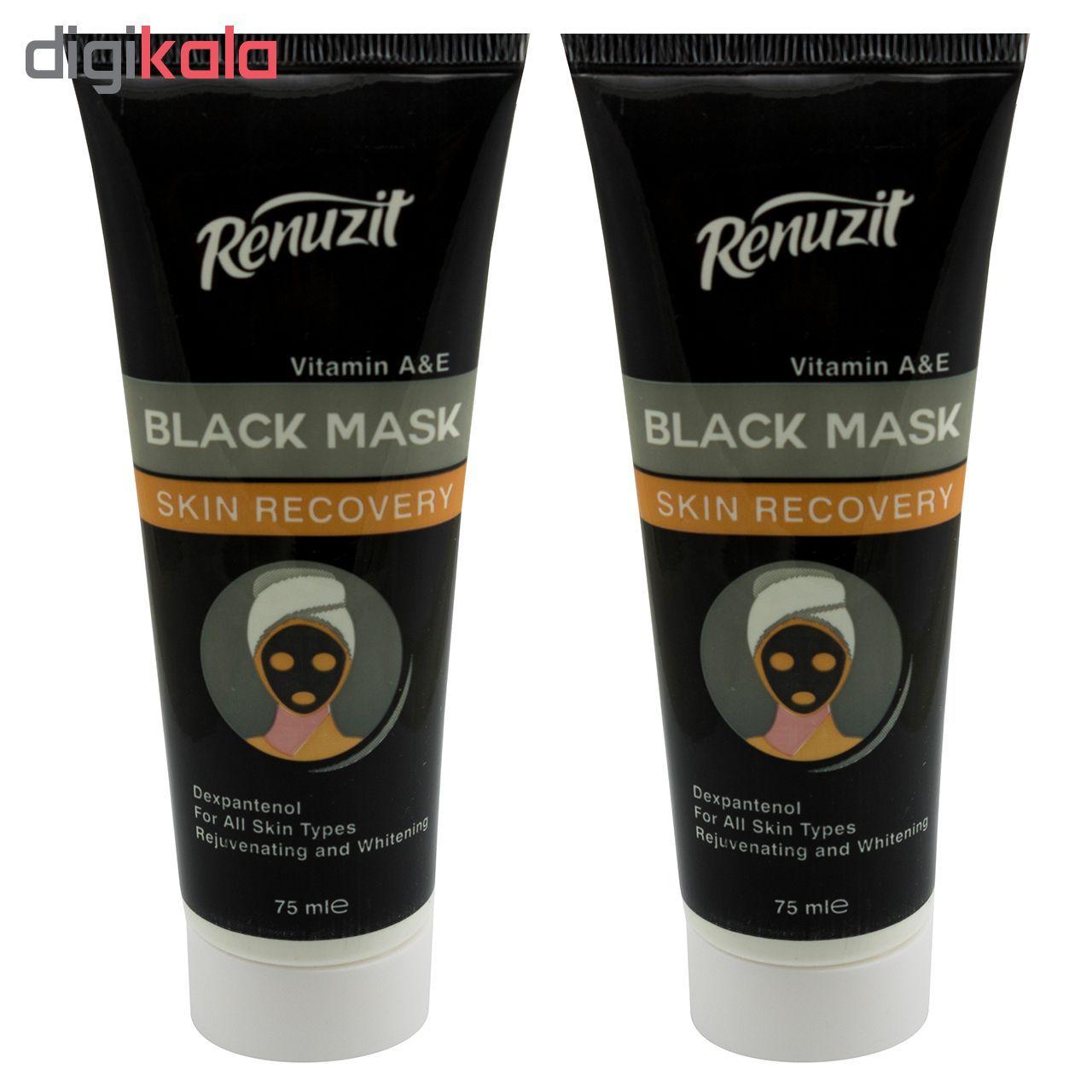 ماسک صورت رینو زیت مدل Black mask carbon active حجم 75 میلی لیتر مجموعه 2 عددی main 1 1
