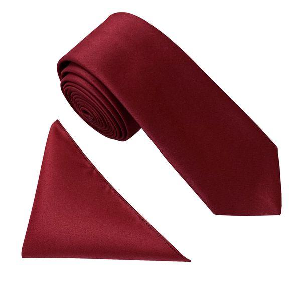 ست کراوات و دستمال جیب مردانه کد KS007