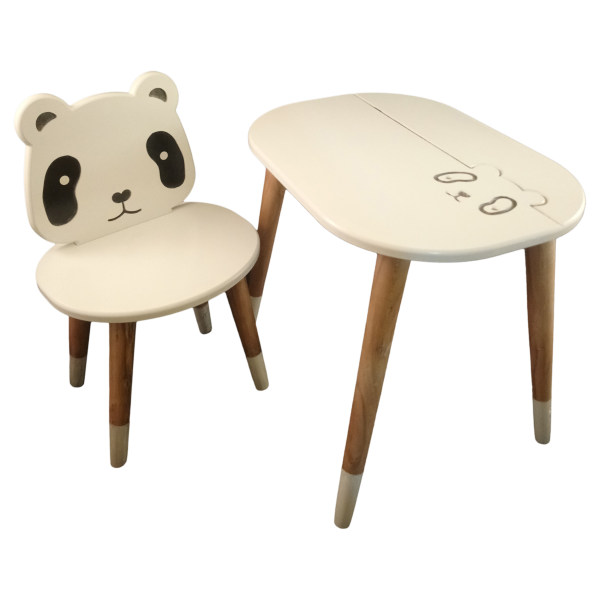 ست میز و صندلی کودک مدل Panda