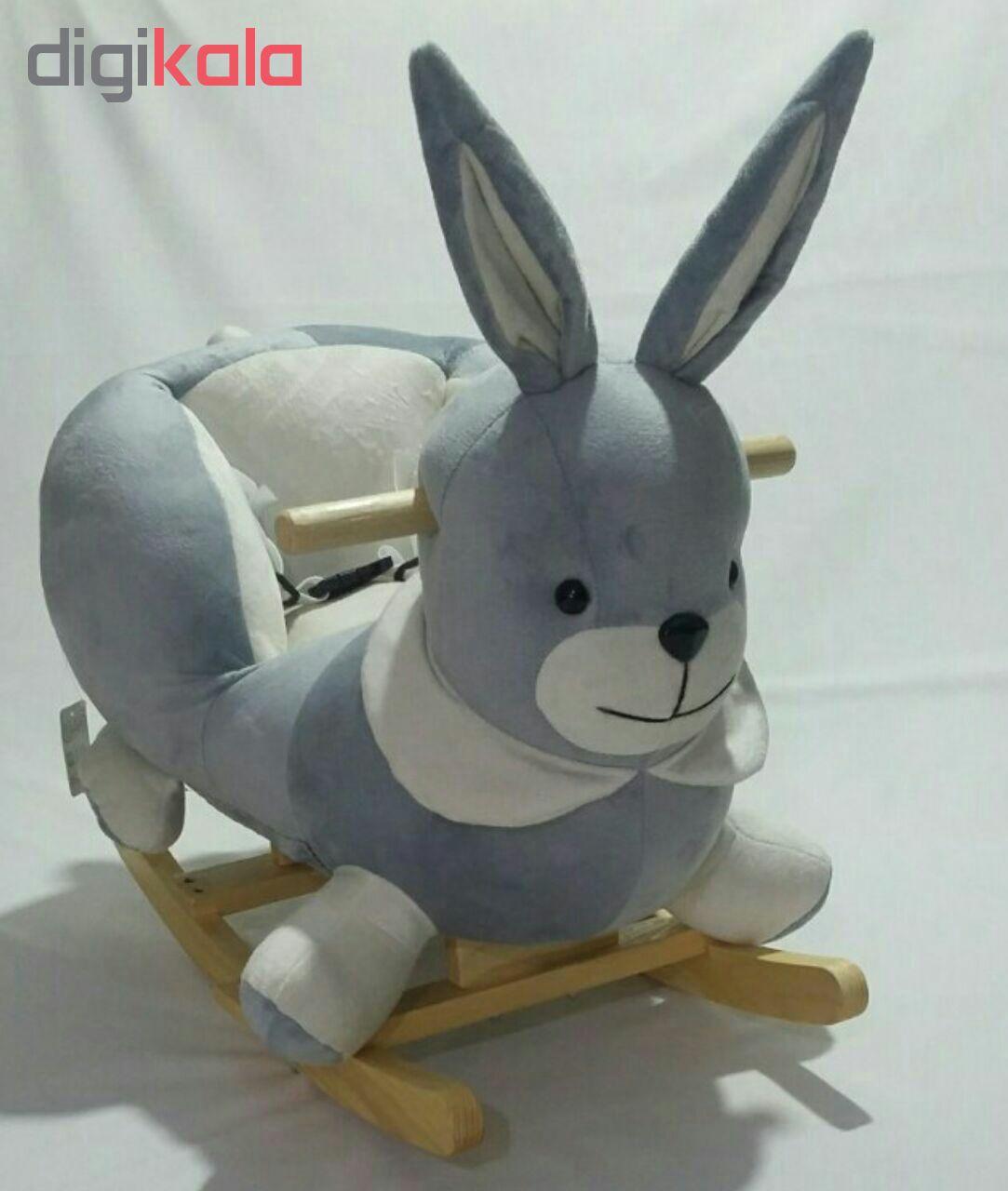 راکر کودک طرح خرگوش