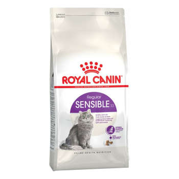 غذای خشک گربه رویال کنین مدل Sensible وزن 2 کیلوگرم