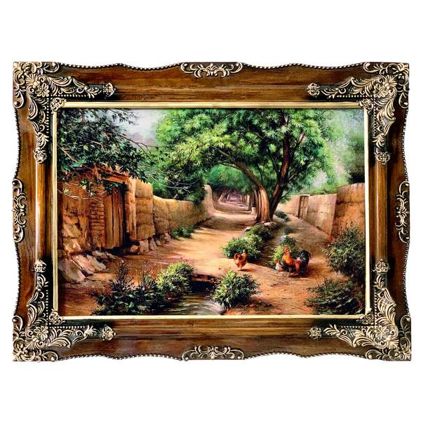 تابلو فرش ماشینی طرح کوچه باغ کد ۷۰۸۸