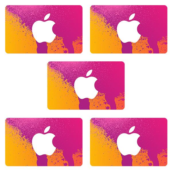 اپل آیدی بدون اعتبار اولیه مدل  A2 بسته 5 عددی