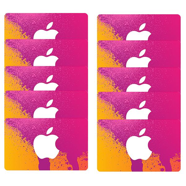 اپل آیدی بدون اعتبار اولیه مدل A3  بسته 10 عددی