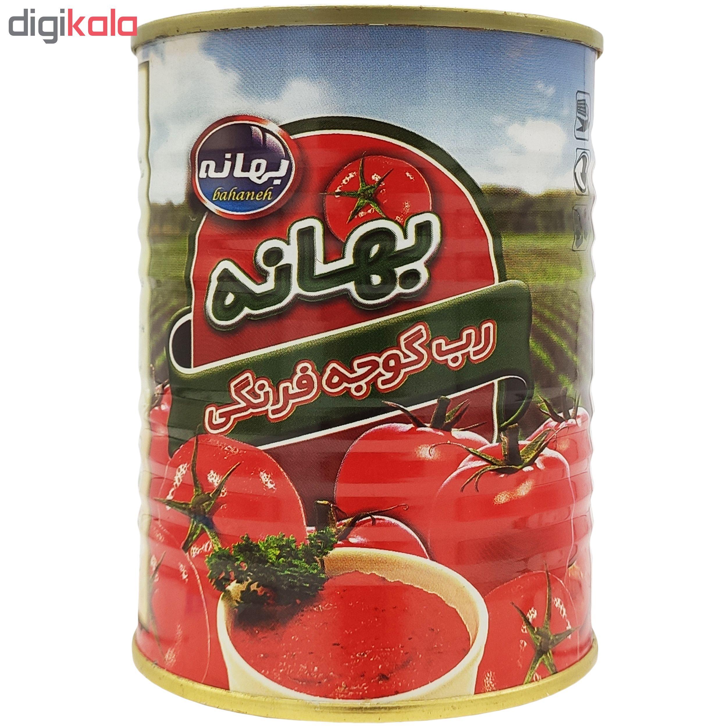 رب گوجه فرنگی بهانه مقدار 380 گرم