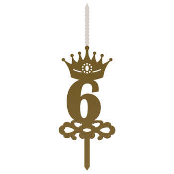 شمع تولد طرح عدد 6 کد NOA_G_6