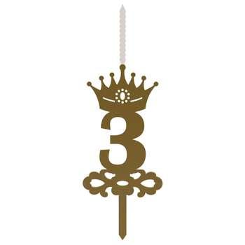 شمع تولد طرح عدد 3 کد NOA_G_3