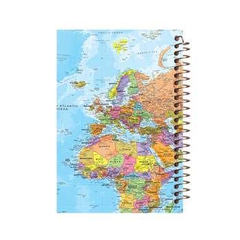 دفتر یادداشت آف تاب شهر طرح نقشه جغرافیا کد 2133