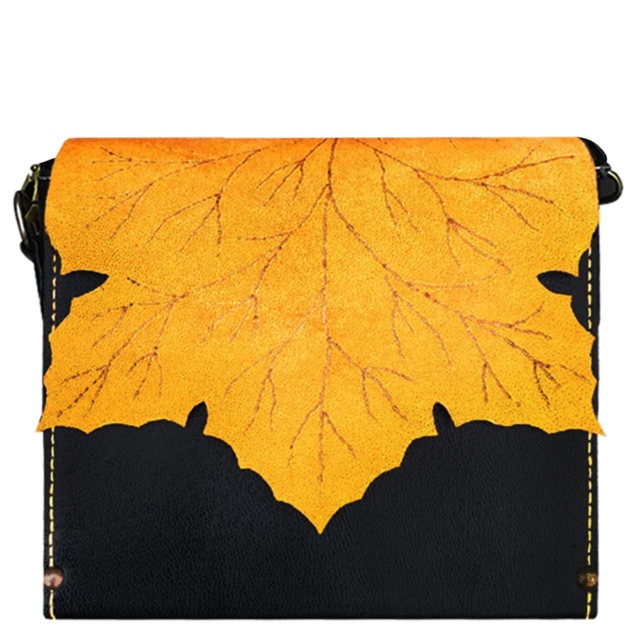 کیف دوشی زنانه طرح برگ