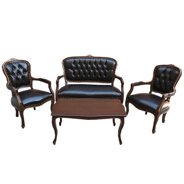 مبل اداری چهارنفره مدل AL به همراه میز جلو مبلی