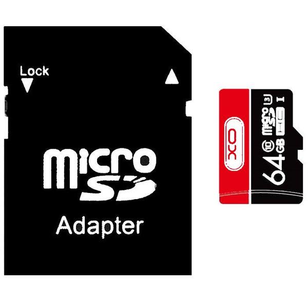 کارت حافظه microSDHC ایکس او مدل SPEED FLASH کلاس 10 استاندارد UHS-I U3 سرعت 90MBps ظرفیت 64 گیگابایت به همراه آداپتور SD