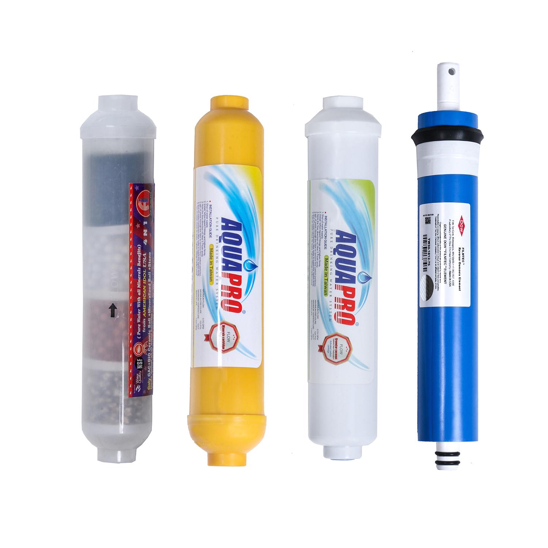 فیلتر دستگاه تصفیه کننده آب مدل RO-4 مجموعه 4 عددی