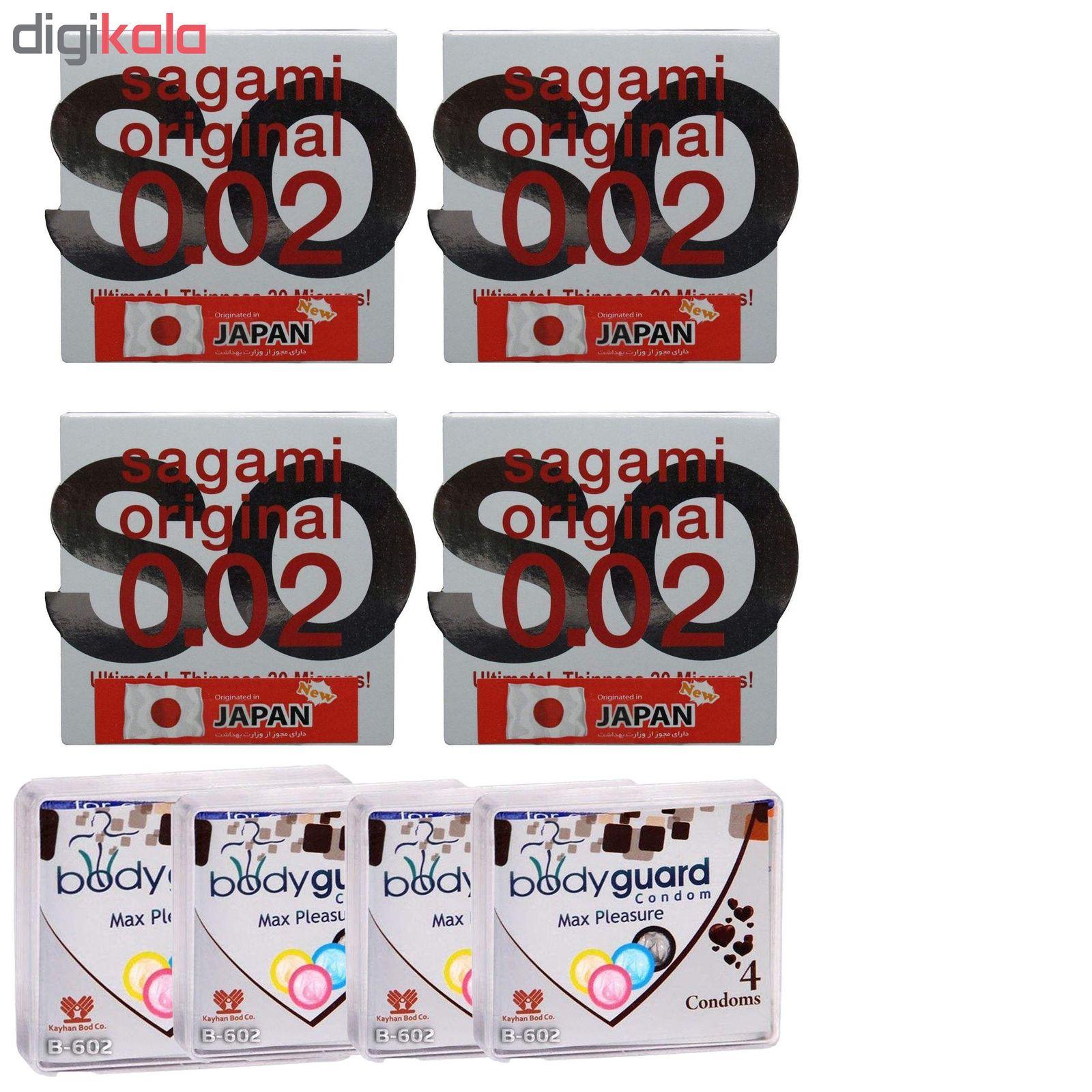 کاندوم ساگامی مدل نرمال مجموعه 4 عددی به همراه کاندوم بادی گارد مدل مکس پلژر مجموعه 4 عددی main 1 1