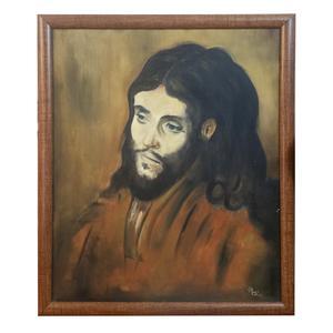 تابلو نقاشی رنگ روغن مدل عیسی مسیح کد ZBJ- 02