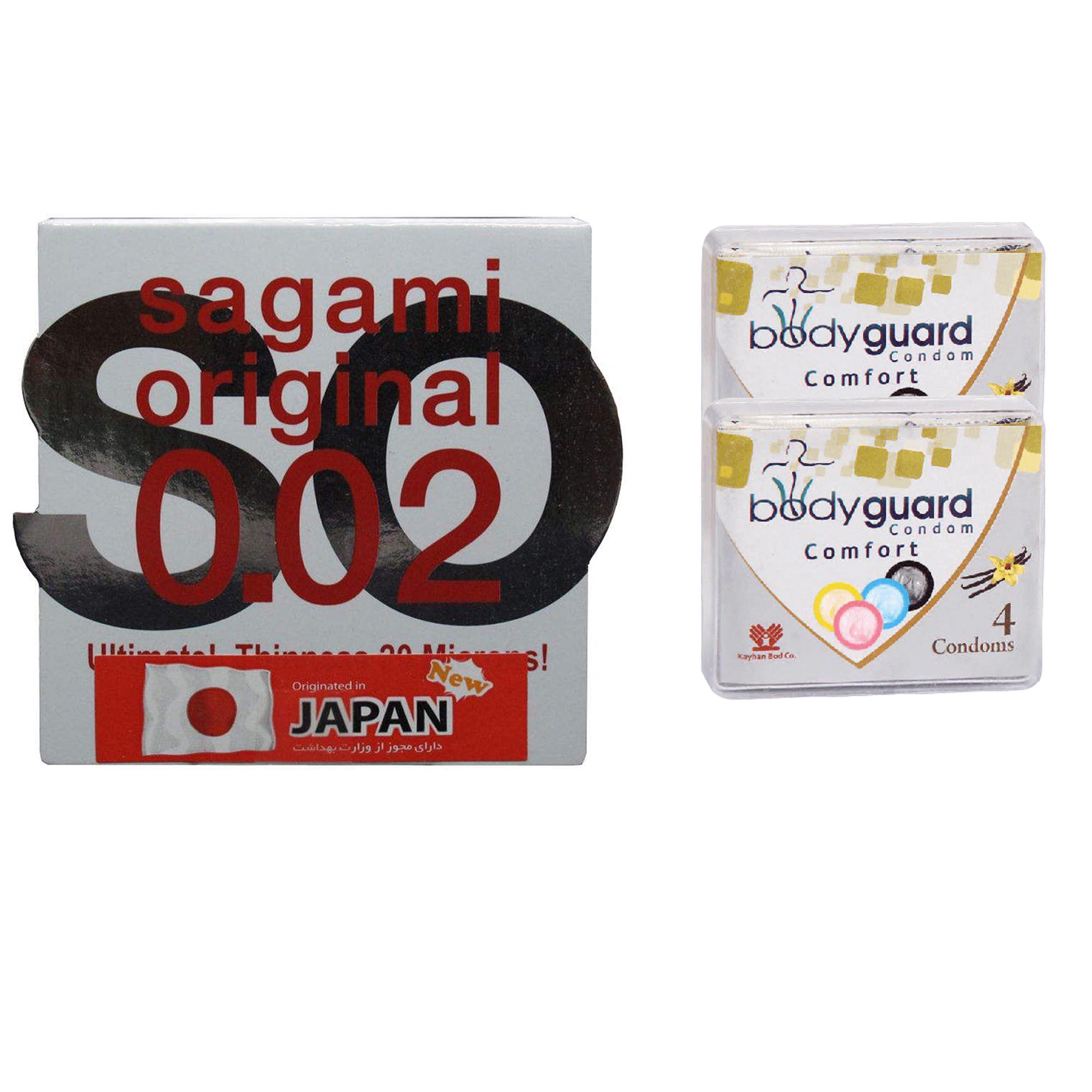 خرید                      کاندوم ساگامی مدل نرمال به همراه کاندوم بادی گارد مدل کامفورت مجموعه 2 عددی