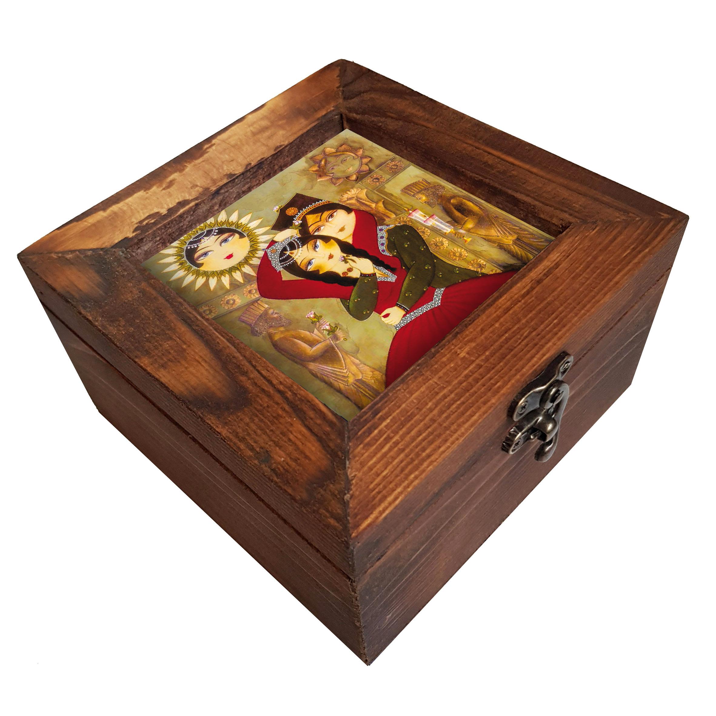 جعبه هدیه چوبی کد A08