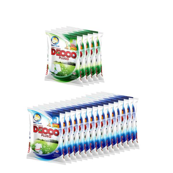 پودر لباسشویی دکو پلاس + مدل optical clean وزن 300 گرم  مجموعه 20 عددی