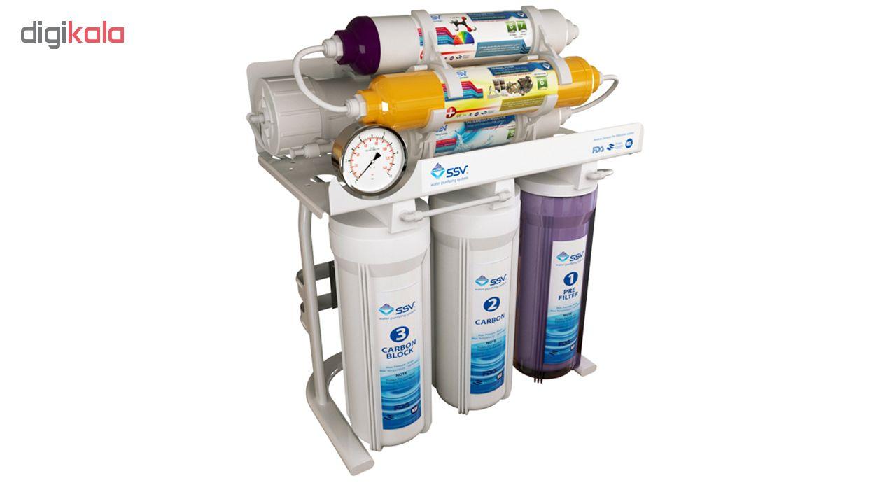دستگاه تصفیه کننده آب خانگی اس اس وی مدل MaxTec X700 به همراه فیلتر بسته 4 عددی