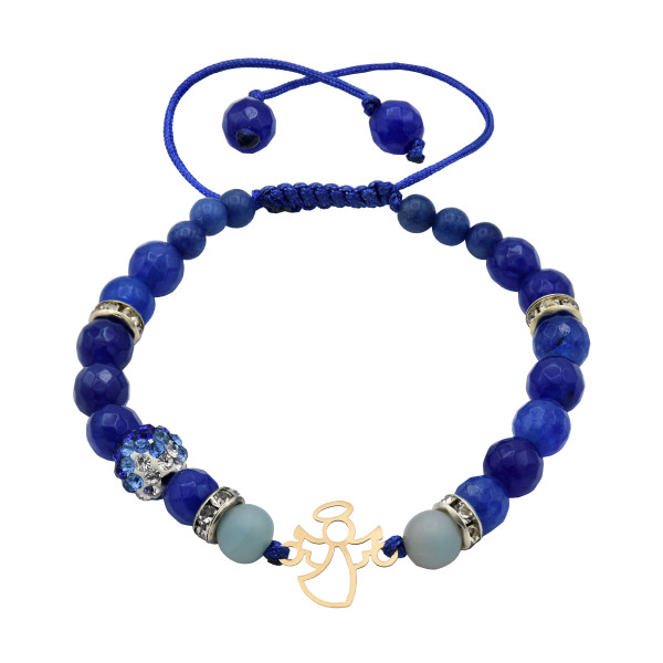 دستبند طلا 18 عیار زنانه آمانژ طرح فرشته کد 711D3120