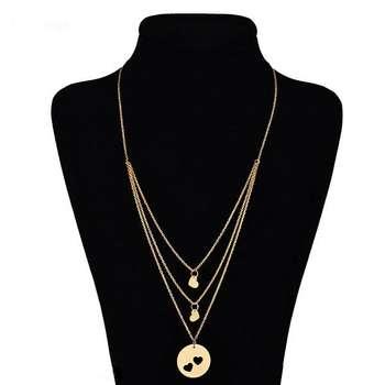 گردنبند طلا 18 عیار زنانه زرلوکس طرح قلب کد21